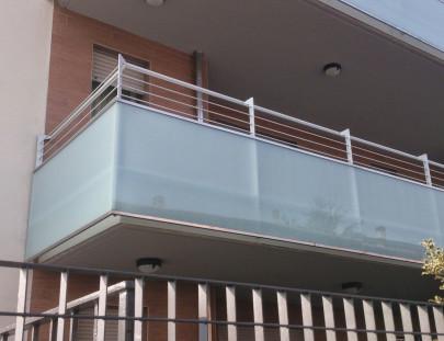 Terrazze in vetro e acciaio